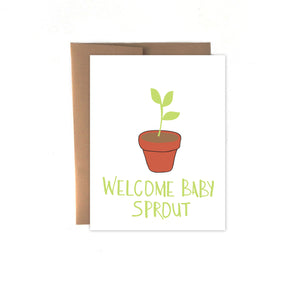 Welcome Baby Sprout Card