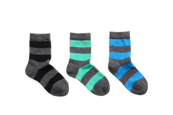 MP Ankle Blocking  stripe sock Grey/Black