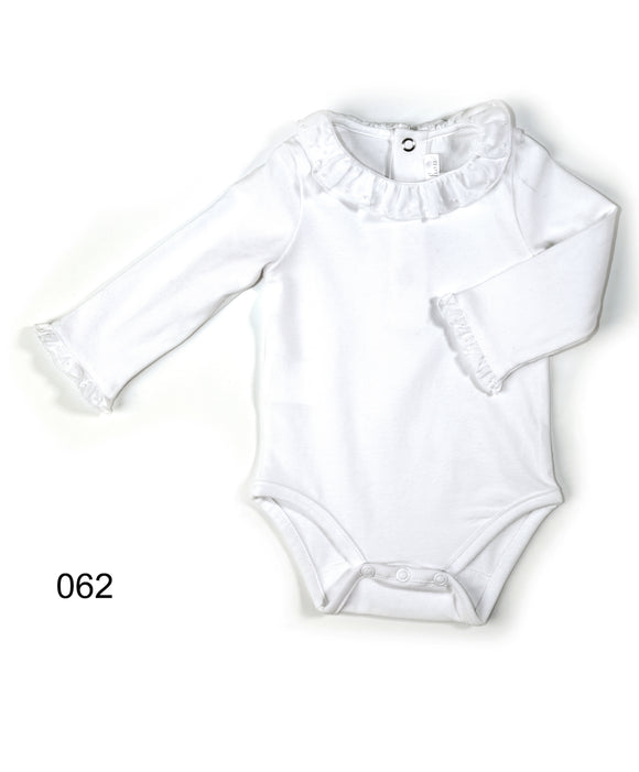 Patachou white long sleeve frill body