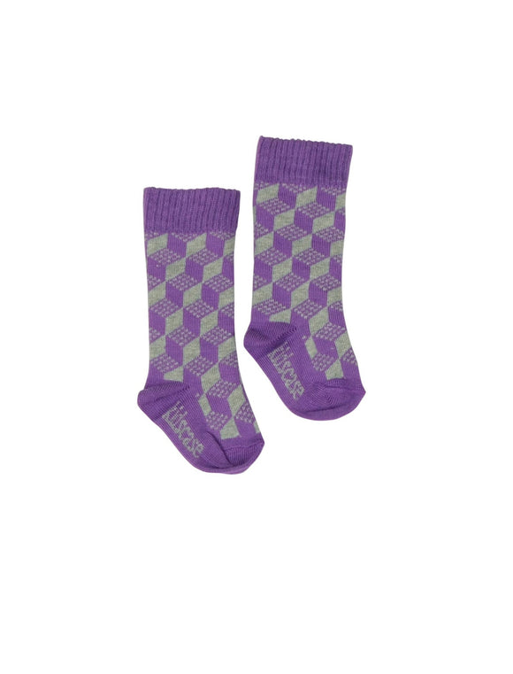 Kidscase Knee High socks Purple/ Grey