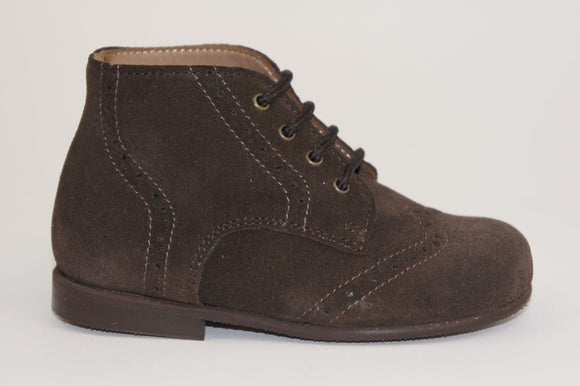 Pepe Brown Suede Brogue Lace-up II