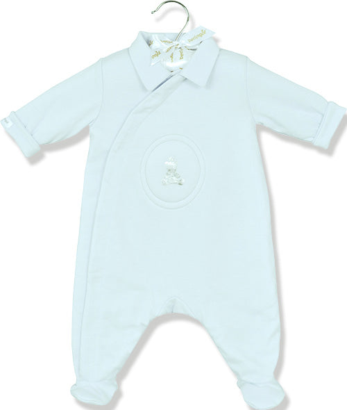 Berlingot Blue Bear emblem playsuit