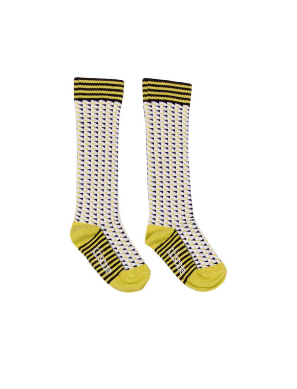 Kidscase Knee high Socks Yellow multi