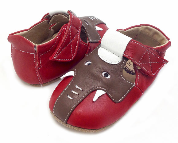Livie & Luca Baby Elephant Red/Brown