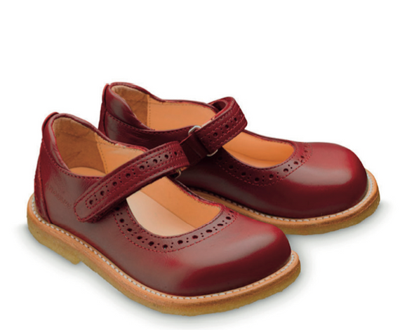 Angulus Brogue Mary-Jane Red