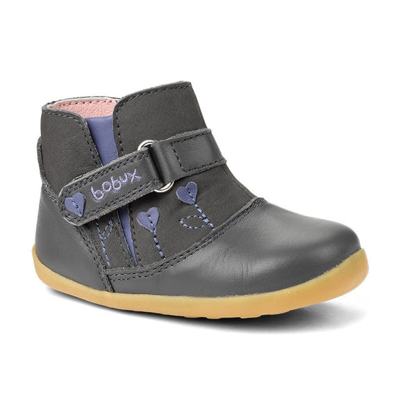Bobux Step up sweet heart boot Charcoal