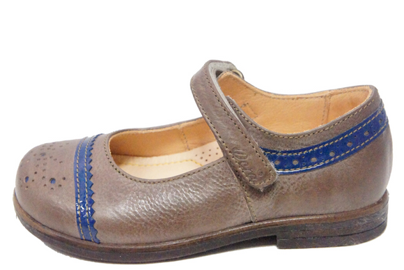 Ocra Taupe/Blue Two Tone Mary-Jane