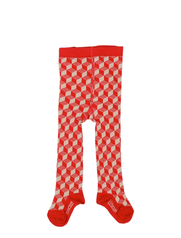 Kidscase Tights Red/Soft Green