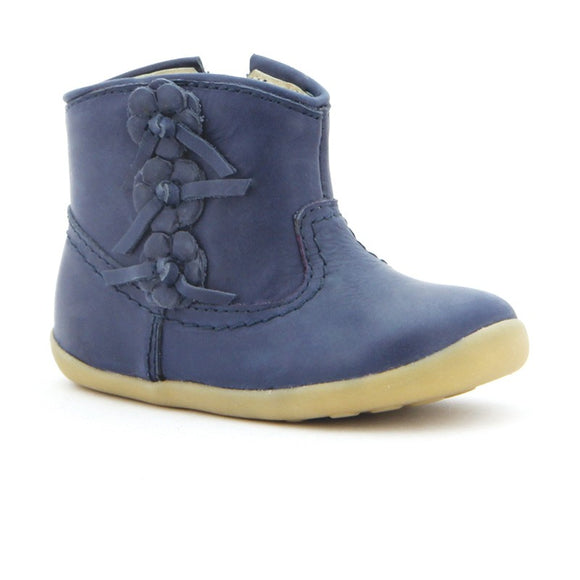 Bobux Step Up Deep Navy mayflower boot