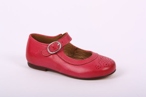 Bisgaard Raspberry Detail Patent Mary Jane