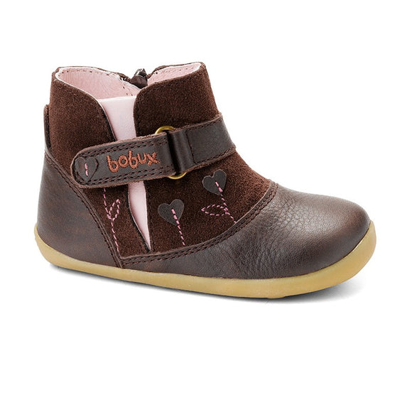 Bobux Step Up Chocolate sweet heart boot