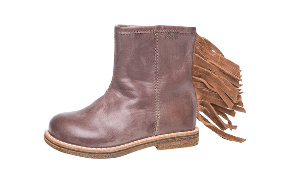 Ocra Taupe/Tan Fringed Boot