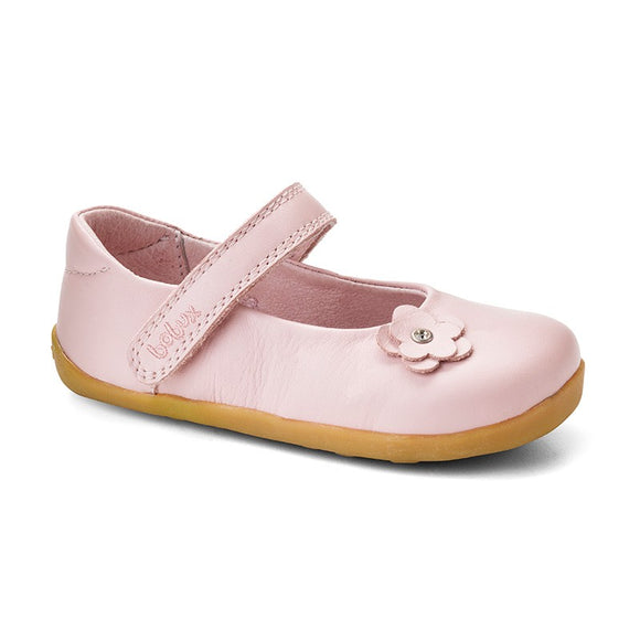 Bobux Step Up Light Pink little star dress shoe