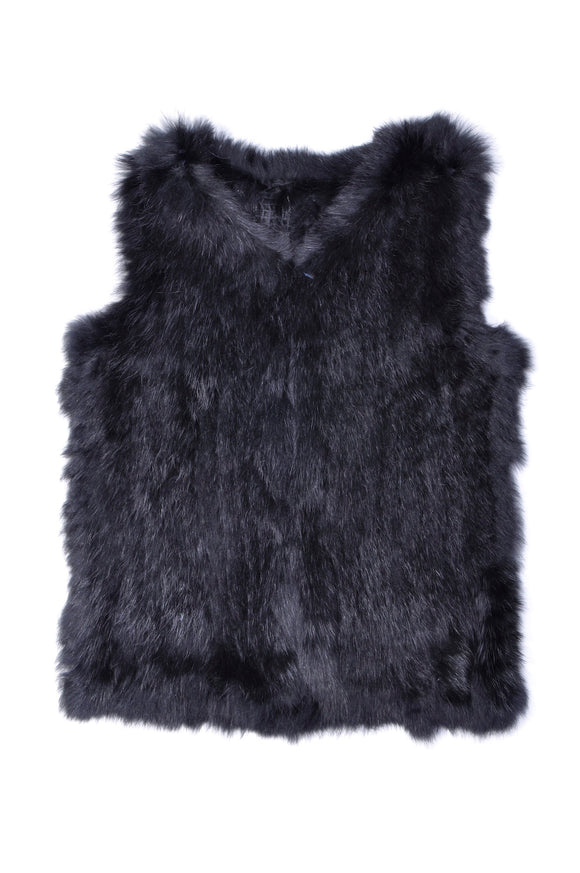 Petit By Sofie Schnoor  Grey fur vest