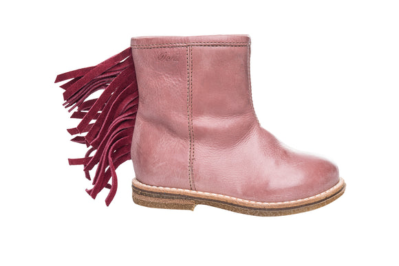 Ocra Pink/Cherry Fringed Boot