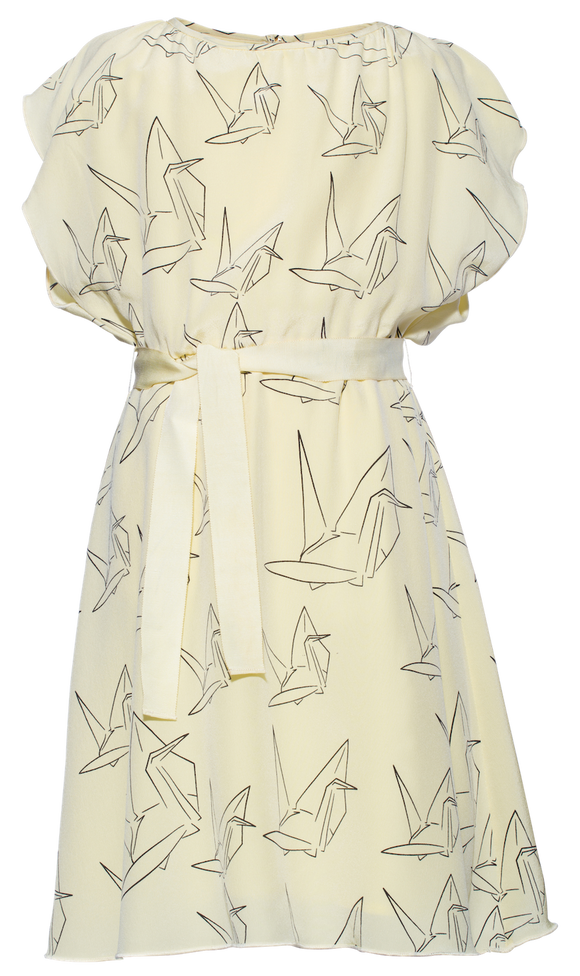 Pale Cloud Yellow Drew dress