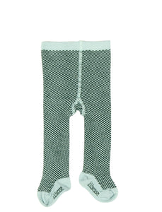 Kidscase Tights Light Blue / Bottle Green
