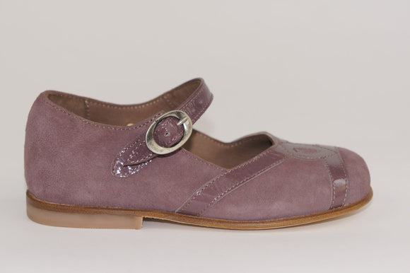 Pepe Dusty Pink Suede/Patent Mary Jane