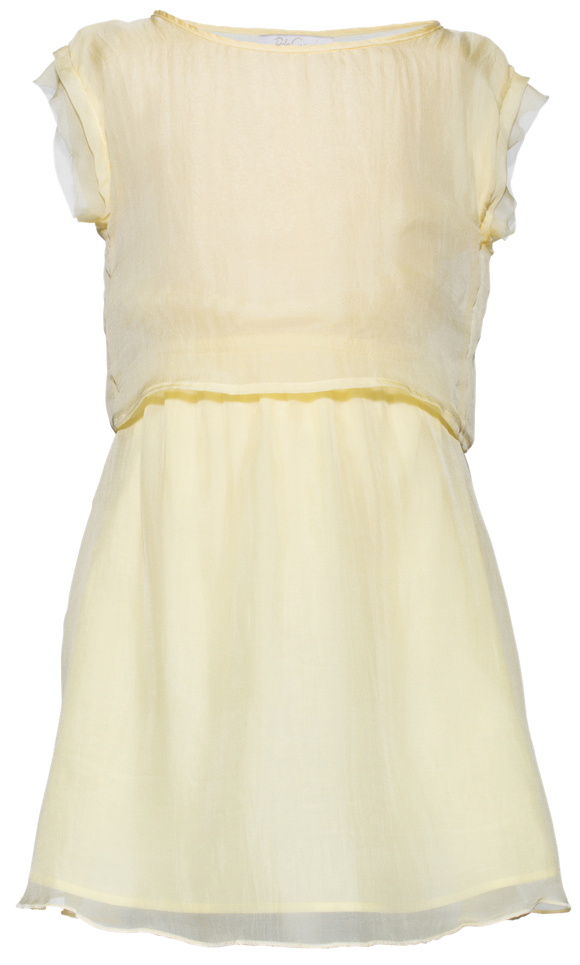 Pale Cloud Yellow Opal dress