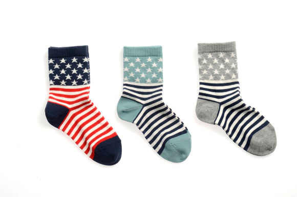 MP Ankle Flag sock Navy/Red