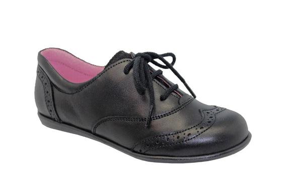 Bo-bell Black Patent Lace-up