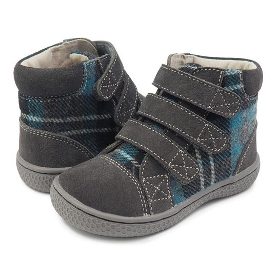 Livie & Luca Jamie Grey Plaid Hi-Top