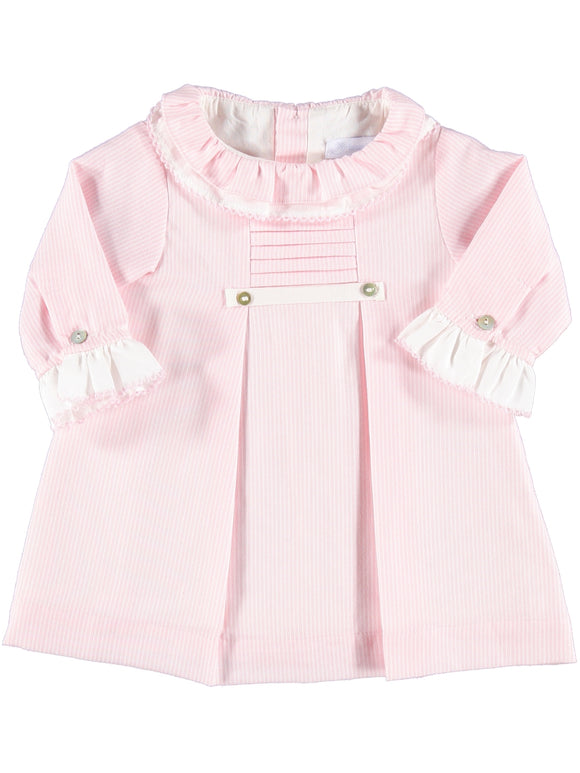 Laranjinha pink/white stripe winter dress