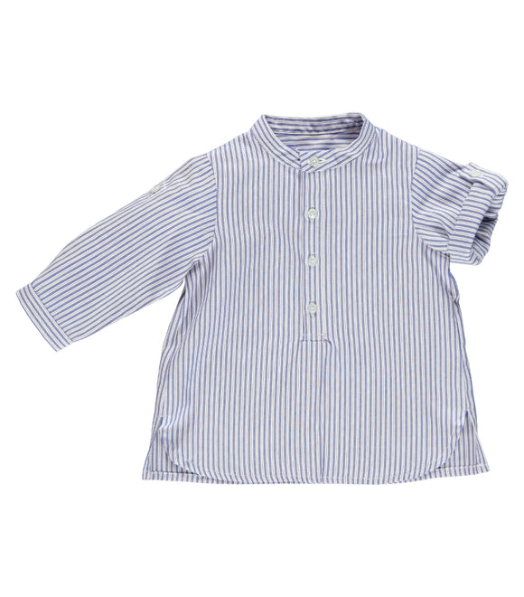 Laranjinha Indigo Collarless Shirt Blue