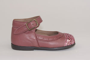 Pepe Pink Sparkle tip ankle Mary Jane
