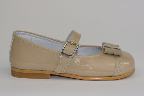 Andanines Beige Patent Mary-Jane