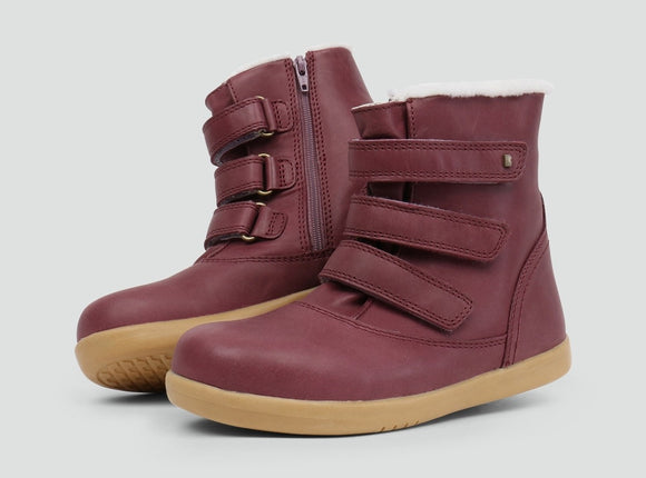 Bobux Kid+ Aspen Plum  Boot (merino lined)
