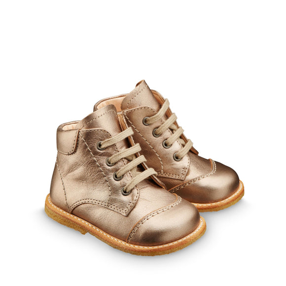 Angulus Gold Lace-up Boot