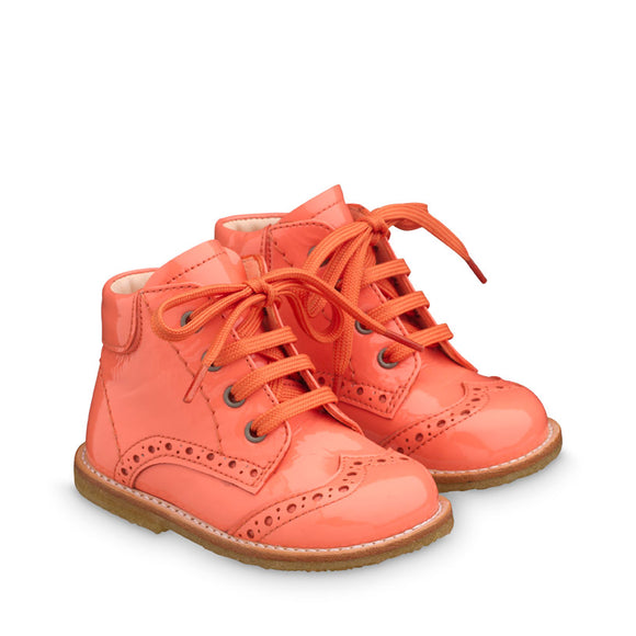 Angulus  Patent Coral Lace-up Boot