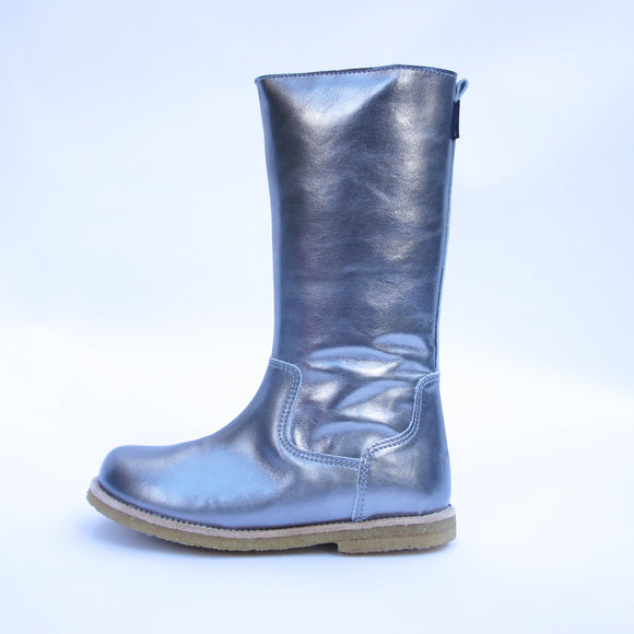 Pom Pom  Rubsole TEX Long Boot Old Silver