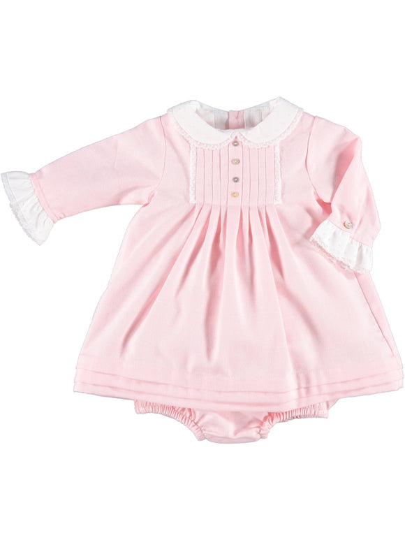 Laranjinha pink and white embroidery dress and knickers