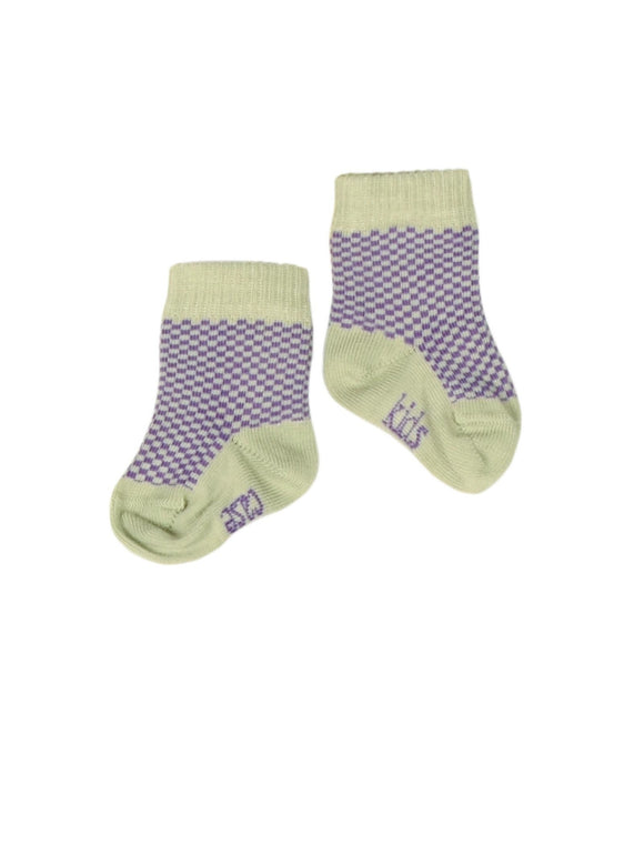 Kidscase Socks Soft Green / Purple
