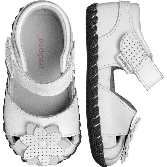 Pediped Originals Mirabella White Sandal