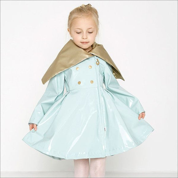 Oil & Water Aqua Audrey Raincoat