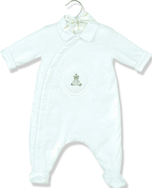 Berlingot White Bear emblem playsuit