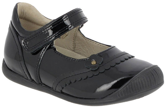 Noel Jones Black Patent flower shoe