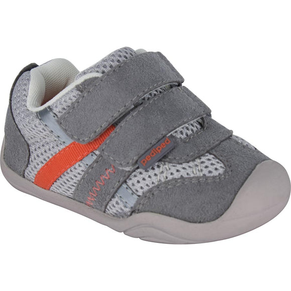 Pediped Grip n Go Gehrig Grey/Orange Trainer