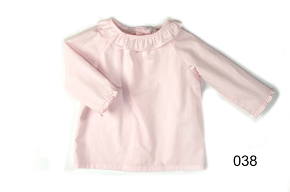 Patachou Pink Cotton long sleeve blouse