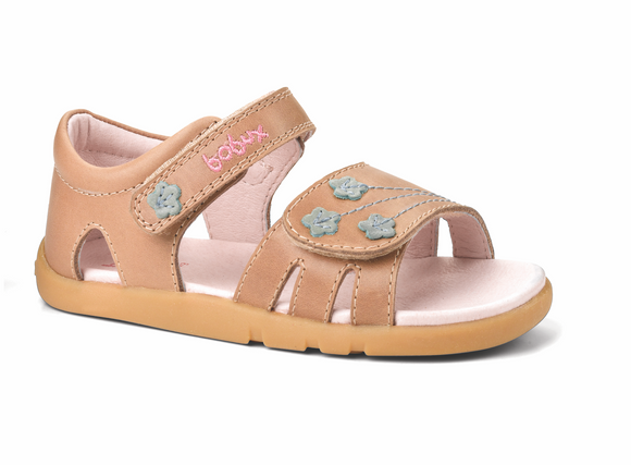 Bobux Iwalk Bloom Sandal Biscuit