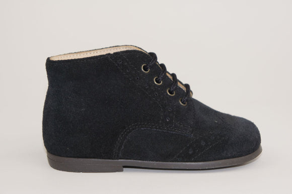Pepe Black Suede Brogue Lace-up