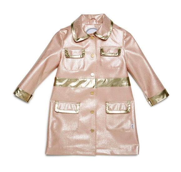 Oil & Water Pink / Platinum City Raincoat