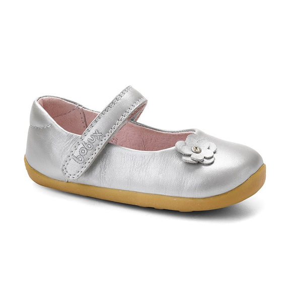 Bobux Step Up Silver little star dress shoe