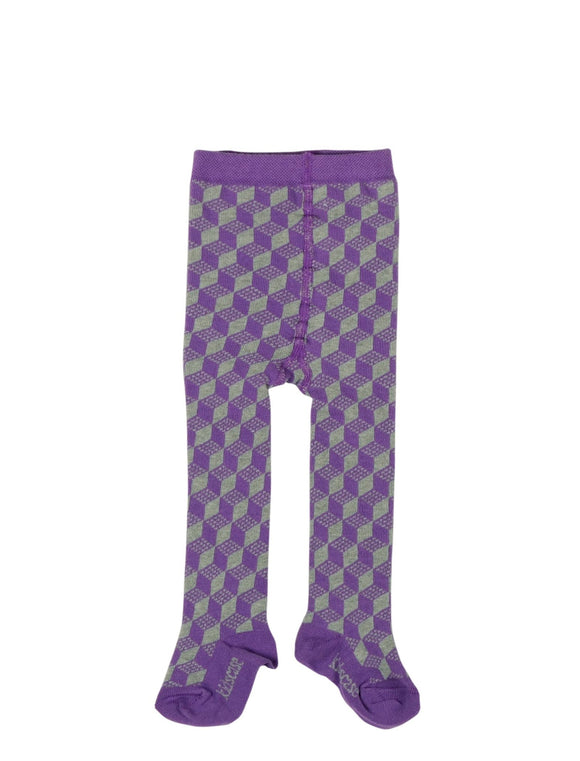 Kidscase Tights Purple/ Grey