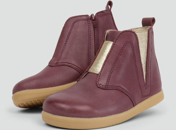 Bobux iWalk Signet Boot Plum eu23 only