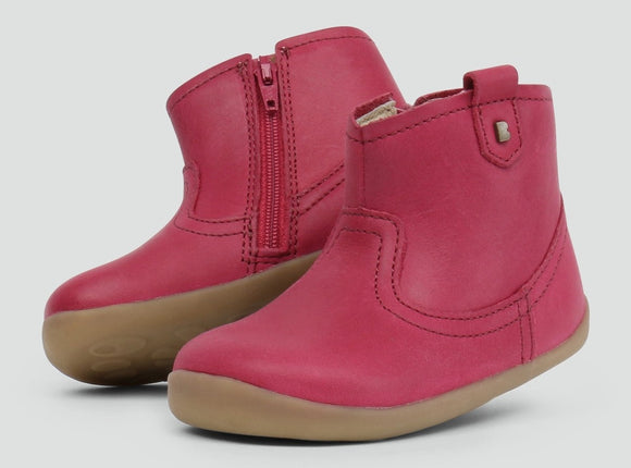 Bobux Step up Vale Boot Dark Pink