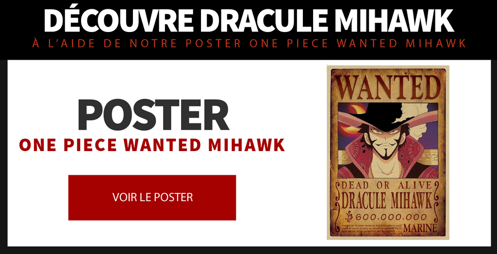 Poster One Piece Wanted Mihawk
